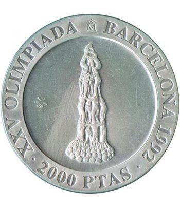 2000 Pesetas 1990 Juegos Olimpicos Barcelona'92 Castellers suelt  - 1
