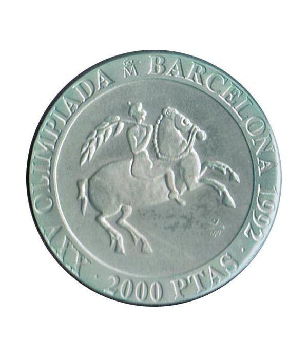 2000 Pesetas 1991 Juegos Olimpicos Barcelona'92 Jinete suelta  - 1