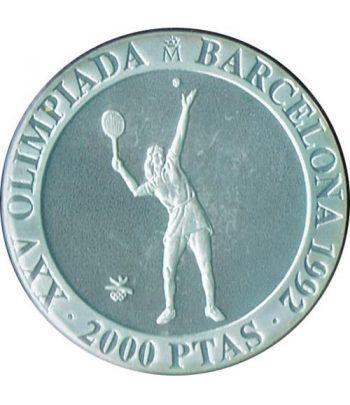2000 Pesetas 1991 Juegos Olimpicos Barcelona'92 Tenis suelta  - 1