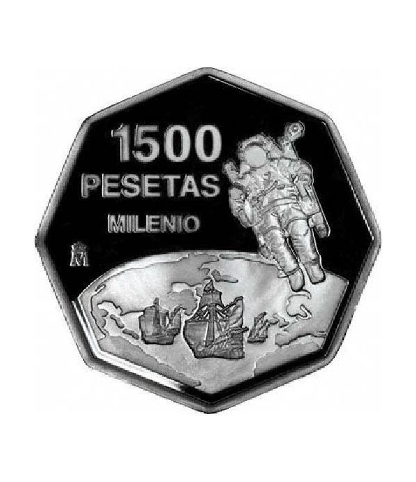 1500 Pesetas 1999 Cambio de Milenio.  - 2