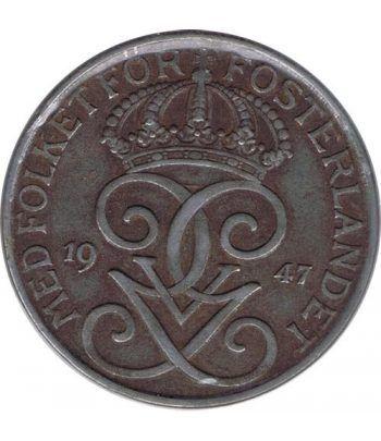 Suecia 5 ore 1947 Gustavo V. Bronce.  - 1