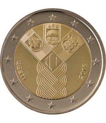 moneda conmemorativa 2 euros Estonia 2018 Conjunta Bálticos.  - 2