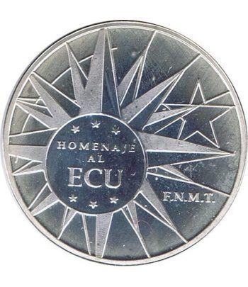 Moneda de plata Homenaje al ECU 1989.  - 1