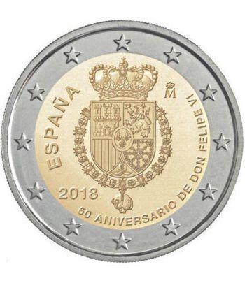 moneda conmemorativa 2 euros España 2018 50 años Felipe VI  - 2