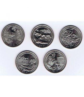 E.E.U.U. 1/4$ 2017 Parques Nacionales (5 monedas) ceca D.  - 2