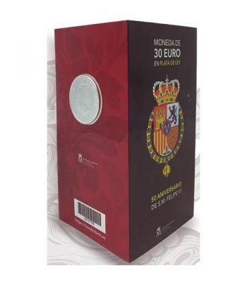 Cartera oficial euroset 30 Euros 2018 Felipe VI Color.  - 6