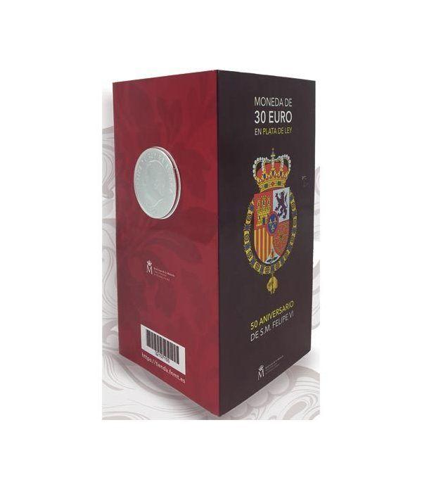 Cartera oficial euroset 30 Euros 2018 Felipe VI Color.  - 1