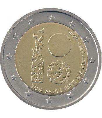 moneda conmemorativa 2 euros Estonia 2018 República.  - 2