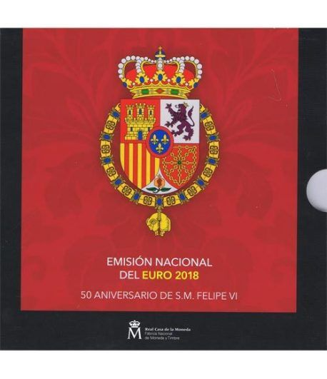 Cartera oficial euroset España 2018 + 2€ Felipe VI y Santiago  - 1