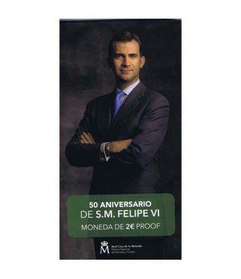 Cartera oficial euroset 2 Euros España 2018 Felipe VI. Proof  - 1