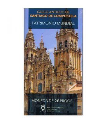 Cartera oficial euroset 2 Euros España 2018 Santiago. Proof  - 1