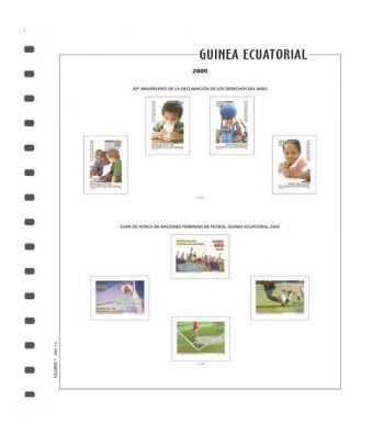 FILOBER Color Guinea 2017 montado con estuches Hojas FILOBER Color - 2