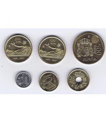 Juan Carlos serie de monedas año 2001. SC  - 1