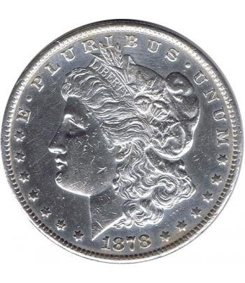 Moneda de plata 1$ Estados Unidos Morgan 1878 S.  - 1