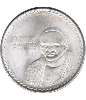Medalla de plata Papa Juan Pablo II Visita México 1979  - 1