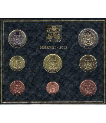 Cartera oficial euroset Vaticano 2018 escudo Papa Francisco.  - 1