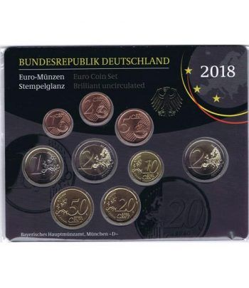 Cartera oficial euroset Alemania 2018 (5 cecas).  - 1