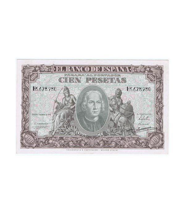 (1940/01/09) Madrid. 100 Pesetas. EBC.  - 1