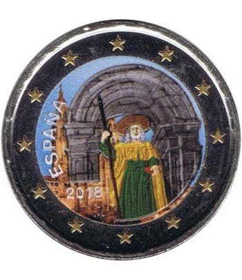 moneda conmemorativa 2 euros España 2018 Santiago. Color  - 2