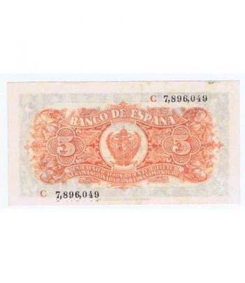 (1937/07/18) Burgos. 5 Pesetas. EBC+. Serie C7896049  - 2