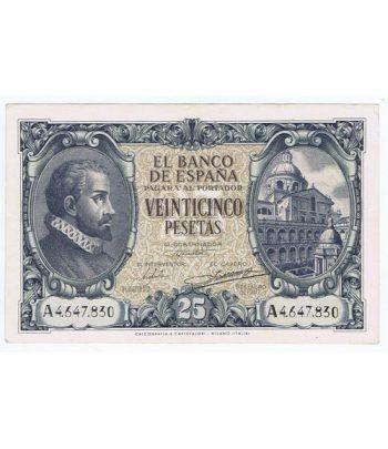 (1940/01/09) Madrid. 25 Pesetas. EBC+. Serie A4647830  - 2