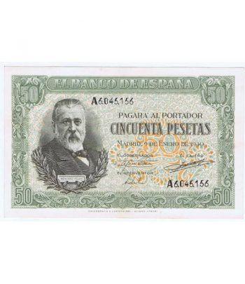 (1940/01/09) Madrid. 50 Pesetas. SC-. Serie A6045156.  - 2