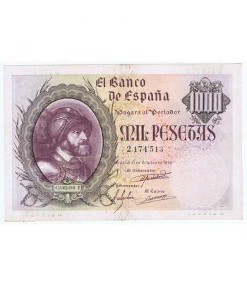 (1940/10/21) Madrid. 1000 Pesetas. EBC. Serie 2174513.  - 2