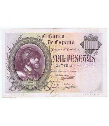 (1940/10/21) Madrid. 1000 Pesetas. EBC. Serie 2174513.  - 1