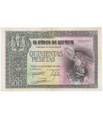 (1940/10/21) Madrid. 500 Pesetas. EBC. Serie 2222313.  - 2