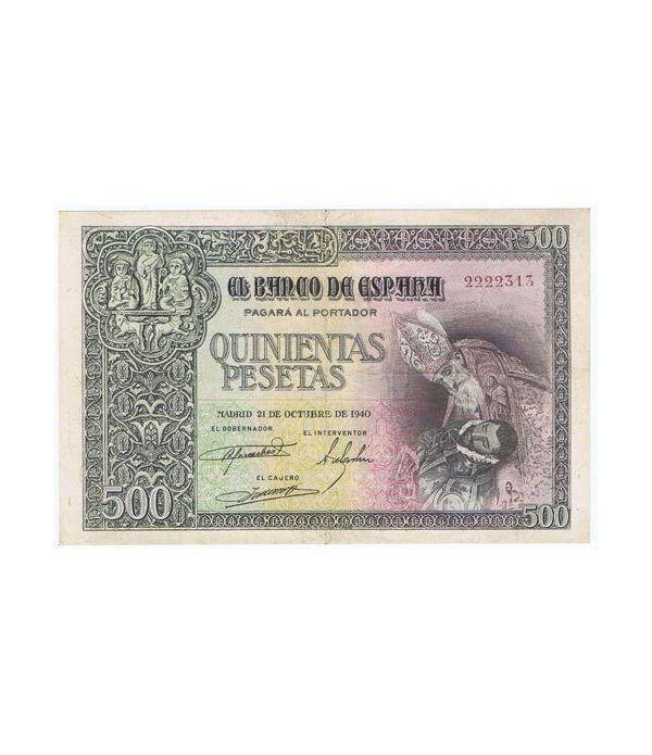 (1940/10/21) Madrid. 500 Pesetas. EBC. Serie 2222313.  - 1