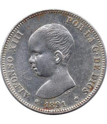 2 Pesetas Plata 1891 *91 Alfonso XIII PG M - EBC  - 1