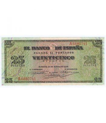 (1938/05/20) Burgos. 25 Pesetas. EBC+. Serie A6880741  - 2