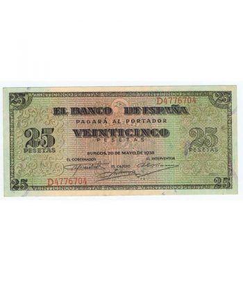 (1938/05/20) Burgos. 25 Pesetas. EBC+. Serie D4776704  - 2