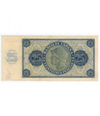 (1936/11/21) Burgos. 25 Pesetas. MBC. Serie F1423712  - 4