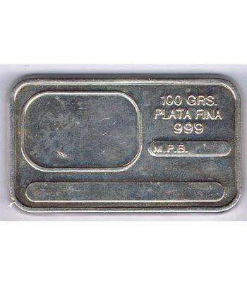 Lingote de plata pura 100 gramos.  - 1
