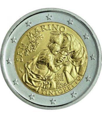 moneda conmemorativa 2 euros San Marino 2018 Tintoretto  - 1