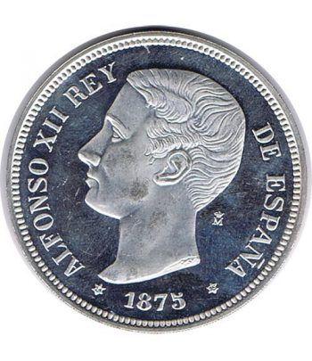 Medalla de plata 5 Pesetas Alfonso XII 1875.  - 1