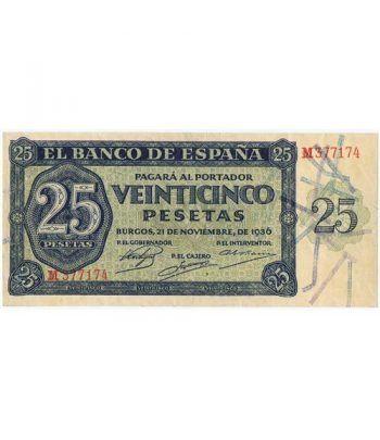 (1936/11/21) Burgos. 25 Pesetas. EBC. Serie M377174  - 2
