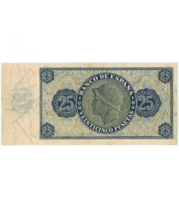 (1936/11/21) Burgos. 25 Pesetas. EBC. Serie M377174  - 4