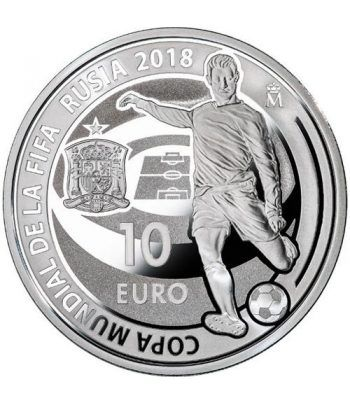 Moneda 2018 Copa Mundial FIFA Rusia 2018. 10 euros Plata  - 1
