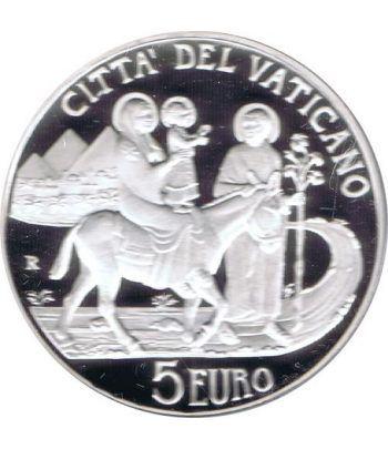 Vaticano 5 euros 2010. 96ª Jornada Mundial Refugiado. Plata.  - 4