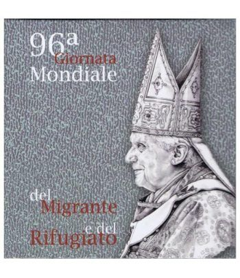 Vaticano 5 euros 2010. 96ª Jornada Mundial Refugiado. Plata.  - 6