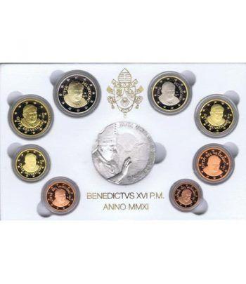 Cartera oficial euroset Vaticano 2011 (Proof).  - 2