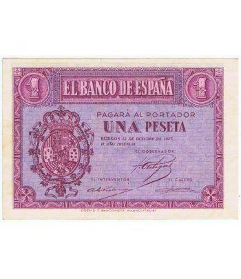 (1937/10/12) Burgos. 1 Peseta. EBC. Serie C6128174  - 1