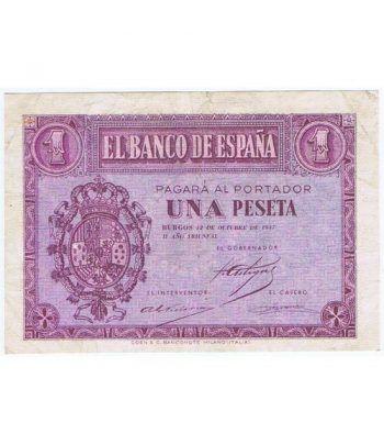 (1937/10/12) Burgos. 1 Peseta. EBC. Serie F2251994  - 2