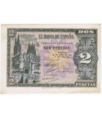 (1938/04/30) Burgos. 2 Pesetas. EBC+. Serie E2237463  - 2