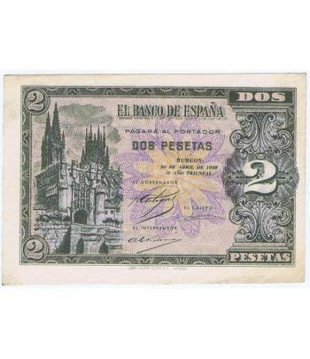 (1938/04/30) Burgos. 2 Pesetas. EBC+. Serie E2237463  - 1