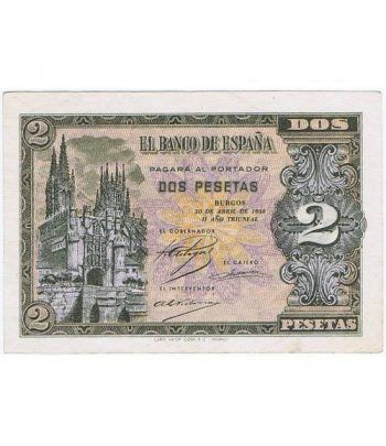 (1938/04/30) Burgos. 2 Pesetas. SC-. Serie N2840340  - 2