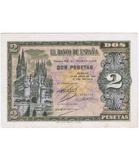(1938/04/30) Burgos. 2 Pesetas. SC-. Serie N2840340  - 1