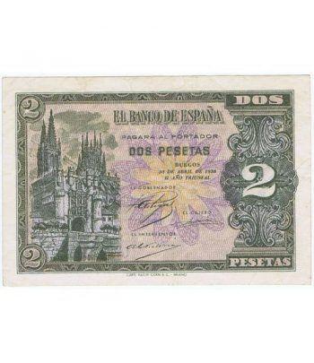 (1938/04/30) Burgos. 2 Pesetas. SC-. Serie G2937837  - 1